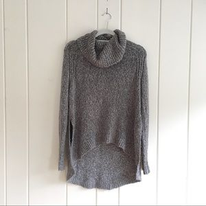 Forever 21 cowl neck high low heathered sweater